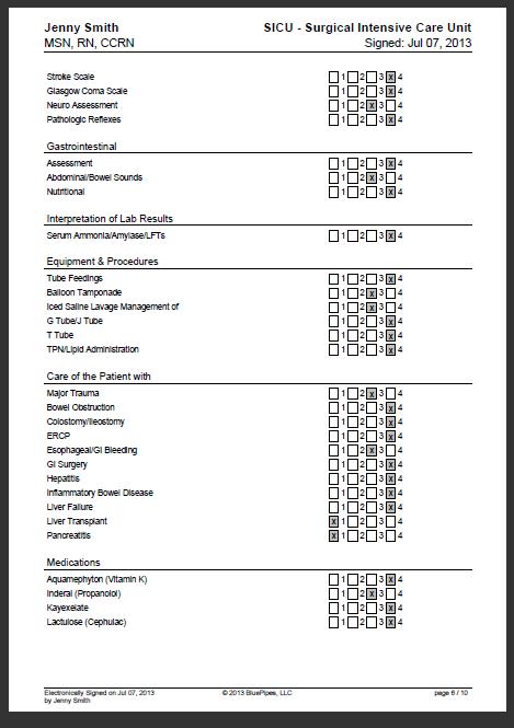sample nursing skills checklist  u00bb bluepipes blog