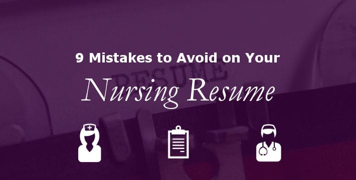 9 Mistakes To Avoid On Your Nursing Resume Bluepipes Blog